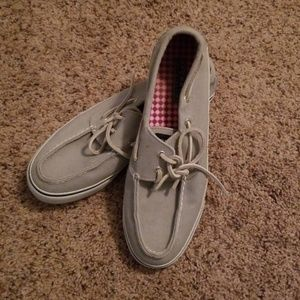 Sperry Shoes - Gray and white 9M Sperrys